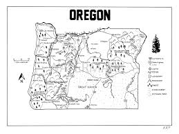 Beaverton Oregon Map by Oregon Hand Drawn Map