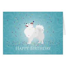 american eskimo dog food american eskimo dog happy birthday design card zazzle com