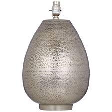 buy john lewis valda pot lamp base steel john lewis