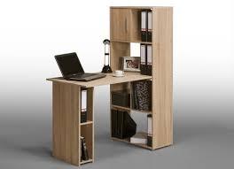 bureau avec rangement intégré bureau informatique contemporain avec rangement chêne sonoma ylas