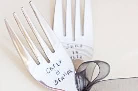 wedding silverware personalized wedding forks custom sted keepsake