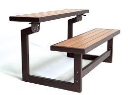 amazon com lifetime 60054 convertible bench table faux wood