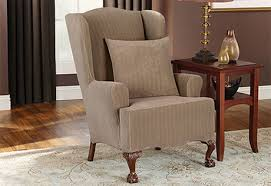 incredible sure fit wing chair slipcover with sure fit category