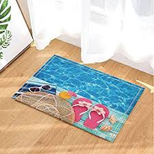 Flip Flop Rugs Amazon Com Allure Home Creations Sun And Sand Bath Rug Home