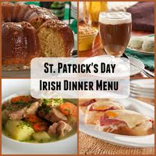irish dinner menu for st patrick u0027s day mrfood com