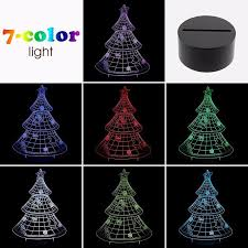 christmas tree 3d led lights colorful touch night light gift usb