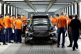 volvo trucks china first china built volvo s90 sedans arrive in europe via ground
