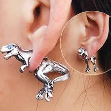 t rex earrings through ear t rex earring nerdhaul