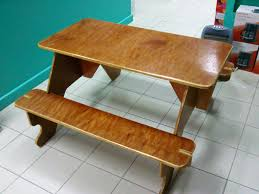 Designs For Wooden Picnic Tables by Flat Pack For Storage Plywood Picnic Table Picnic Tables