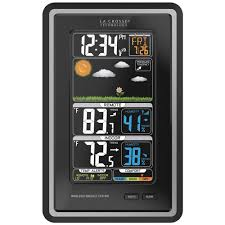 acurite digital weather forecaster with alarm clock 13044hd the
