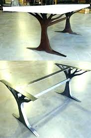large dining table legs metal dining table legs home design