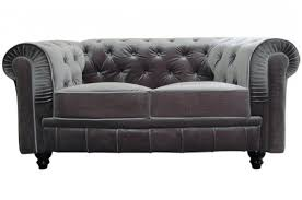 canapé velours gris canapé chesterfield velours capitonné gris argenté 2 places city