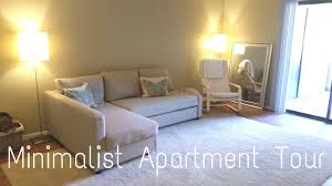 minimalist apartment tour youtube