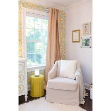 nursery accent table wave accent table in yellow yellow accents nook and nursery