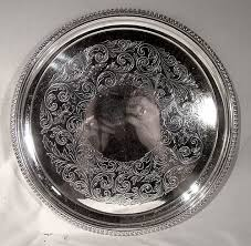 engraved serving tray birks regency silver plated engraved serving tray 1940 1950