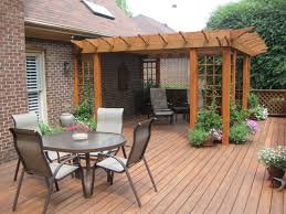 patio patio ideas for backyard with four chair dining set and