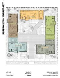 U Shaped Home Plans by 24 For Small House Plans Courtyard Home Architecture With