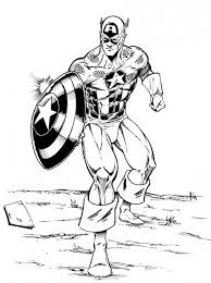 avengers character captain america coloring avengers
