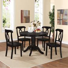 Black Dining Table And Chairs Set Dorel Home Furnishings Aubrey 5 Piece Black Traditional Height