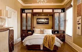 ways to arrange a small bedroom rustic concrete wall dark brown