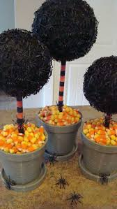 spider topiaries w candy corn base cute halloween crafts
