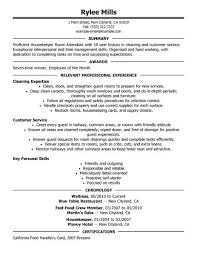 Appealing Resume Title Examples Customer by Best Housekeeper Room Attendant Resume Example Livecareer