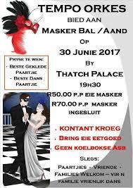 Masker Vir masker bal thatch palace iinfo tzaneen