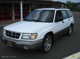 white subaru forester 1999 aspen white subaru forester s 30936255 gtcarlot com car