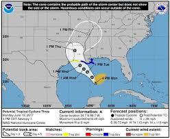 houston louisiana map likely tropical threatens and louisiana