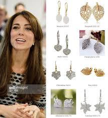 earrings kate middleton shop replikates of the pave diamond leaf earrings