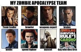 Zombie Team Meme - my zombie apocalypse team by xnebix on deviantart