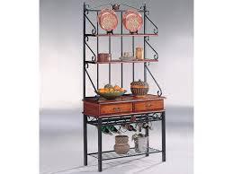 kitchen accent furniture coaster accent racks 5424 3 shelf kitchen cabinet with wine rack