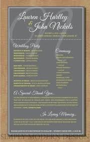 one page wedding program template one page wedding program template template