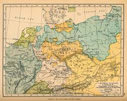 Historical Maps Of Europe by Central Europe August 6 1806