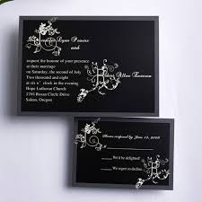 affordable wedding invitations classic black and white affordable wedding invitation cards ewi186