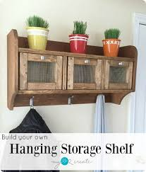 Free Shelf Woodworking Plans by Entryway Hanging Storage Shelf