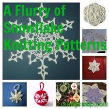 snowflake crafts to knit knitting