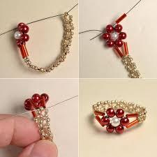 make jewelry rings images Pearl bead flower rings easy picture tute seed bead jpg