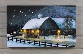 lighted canvas art with timer shop for more country lighted pictures many feature 6 hour timer