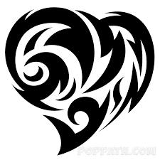 how to draw a heart tribal tattoo u2013 pop path
