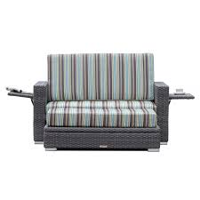 aruba grey wicker loveseat with storage ottoman