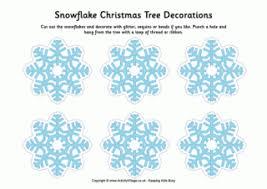 Blue Snowflakes Decorations Snowflake Printables