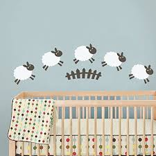 Wall Decals Baby Nursery Sheep Wall Decal Baby Room Wall Sticker Nursery Wall