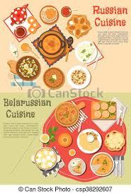 russe en cuisine russe cuisine repas belarusian journalier kvass clipart