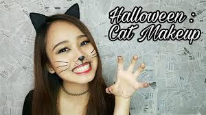 halloween cat makeup halloween cat makeup savira millenita youtube