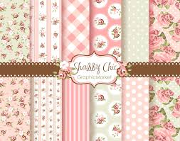 shabby chic wrapping paper 12 shabby chic digital scrapbook paper pack for invites