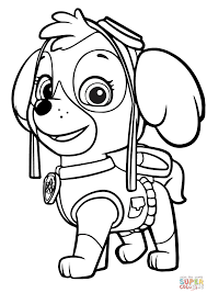 paw patrol skye coloring page free printable coloring pages