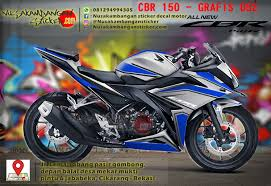 honda cbr 150r full details decal striping honda cbr 150 all new u2013 putih biru 052 full body