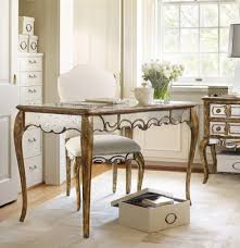 french mirrored writing desk by hooker furniture home gallery