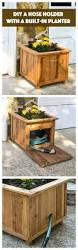 Fun Wood Projects For Beginners by Diy Hose Hiding Outdoor Planter An Easy Project For Every Yard